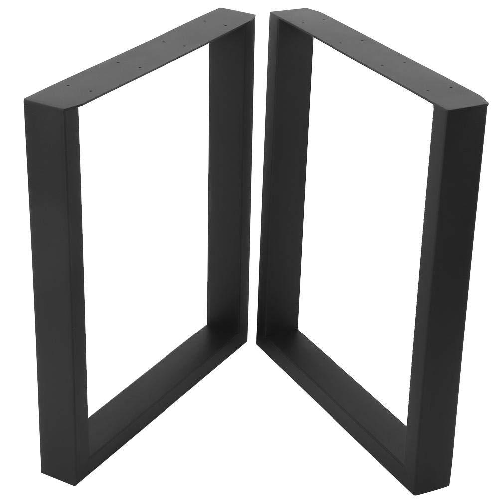 60X72CM 2Pcs Patas de Mesa de Acero Negro Pies Rectangulares de Muebles para Mesas Auxiliares Bancos de Madera de Bricolaje Escritorios para Computadoras Port/átiles