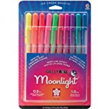 Sakura Gelly Roll Moonlight Pen Set, 1 mm Bold Tip, Assorted Colors, Pack of 10