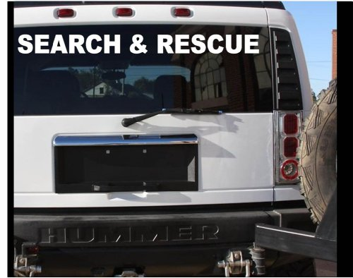 SEARCH AND RESCUE STICKER VEHICLE DECAL - LARGE K9 911 STICKER TORNADO (Search And Rescue Vehicles)