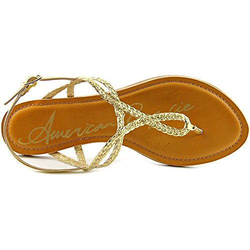 Open Gold Strap Rag T Casual Sandals Toe Womens Keira American tzwAqPw