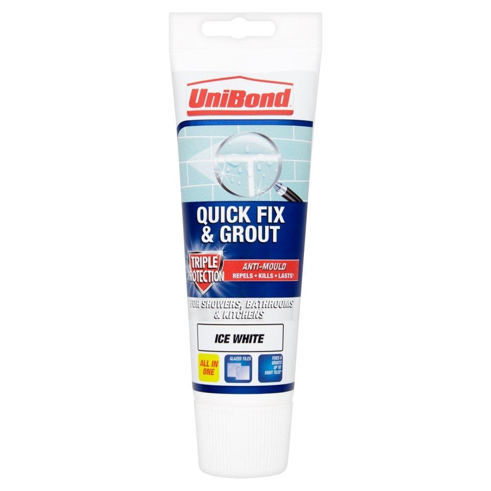 UniBond 1616659 Tube de Colle à Carrelage Triple Protection Anti-Moisissure, Blanc Henkel