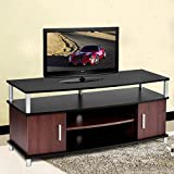 TV Stand Entertainment Media Center Console Storage Wood Cabinet Home Furniture Construction With Particle Board And Plastic ABS Support Posts