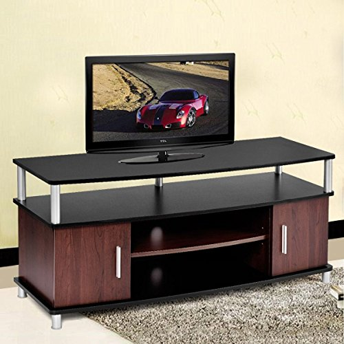 TV Stand Entertainment Media Center Console Storage Wood Cabinet Home Furniture Construction With Particle Board And Plastic ABS Support Posts (Furniture Stores Dublin Ohio)