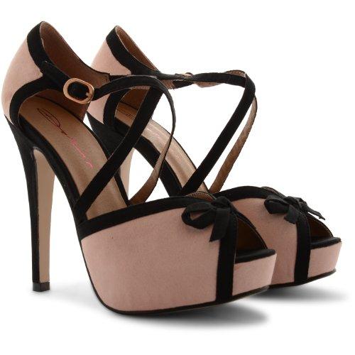 Dolcis - Sandalias de vestir de sintético para mujer - Nude Black