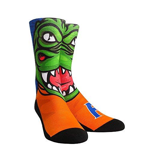Rock'em Apparel NCAA Florida Gators Albert Mascot University Custom Athletic Crew Socks, Small/Medium, Green (Shoe Florida Gators)
