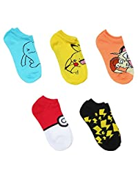 Pokemon Assorted 5-pack No Show Socks