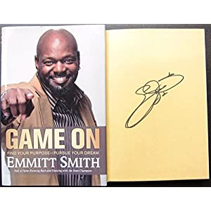 Emmitt Smith signed Book Game On Cowboys 1st Print Beckett BAS Authentic auto