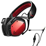 V-Moda Crossfade Wireless (Rouge) with BoomPro Microphone Cable (Black)