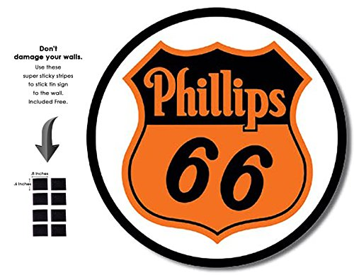 Shop72   Phillips 66 Tin Signs Retro Vintage Gas Tin Sign N Oil Tin Sign Wall Decor Garage