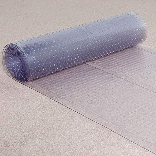 ES Robbins 184016 Ribbed Runner, 36-Inch by 20-Feet, Clear