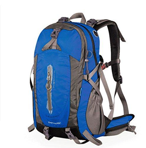 GJ backpacks-旅行バックパックMen and Women高容量on足防水観光アウトドアバックパック B07F2Z67Z5 ブルー