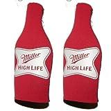 high life cooler - Beer Miller High Life - Neoprene Bottle Suits (2) | MHL Beer Bottle Insulators with Zipper - Set of 2