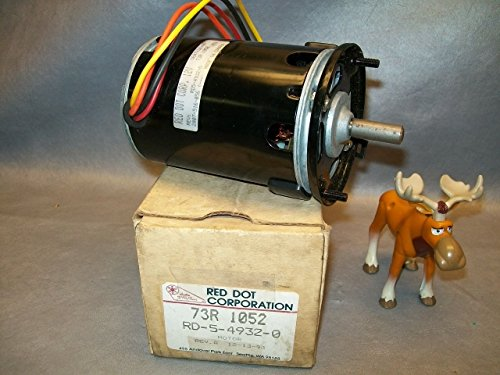 Red Dot Corp. RD5-4932-0 Blower Motor Single Shaft, 3 Speed, 4 Wire, 12V (3 Blower Single Speed)