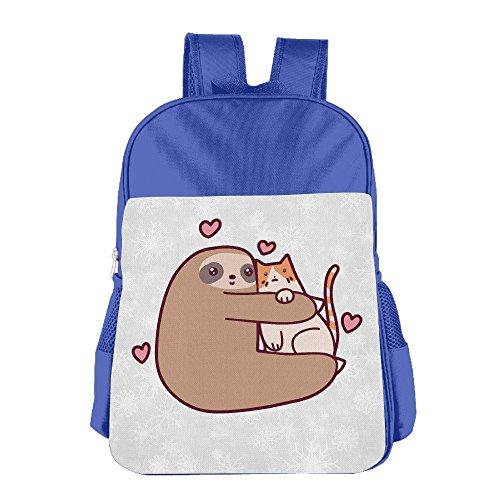 boys-girls-sloth-loves-cat-backpack-school-bag-2-colorpink-blue-royalblue