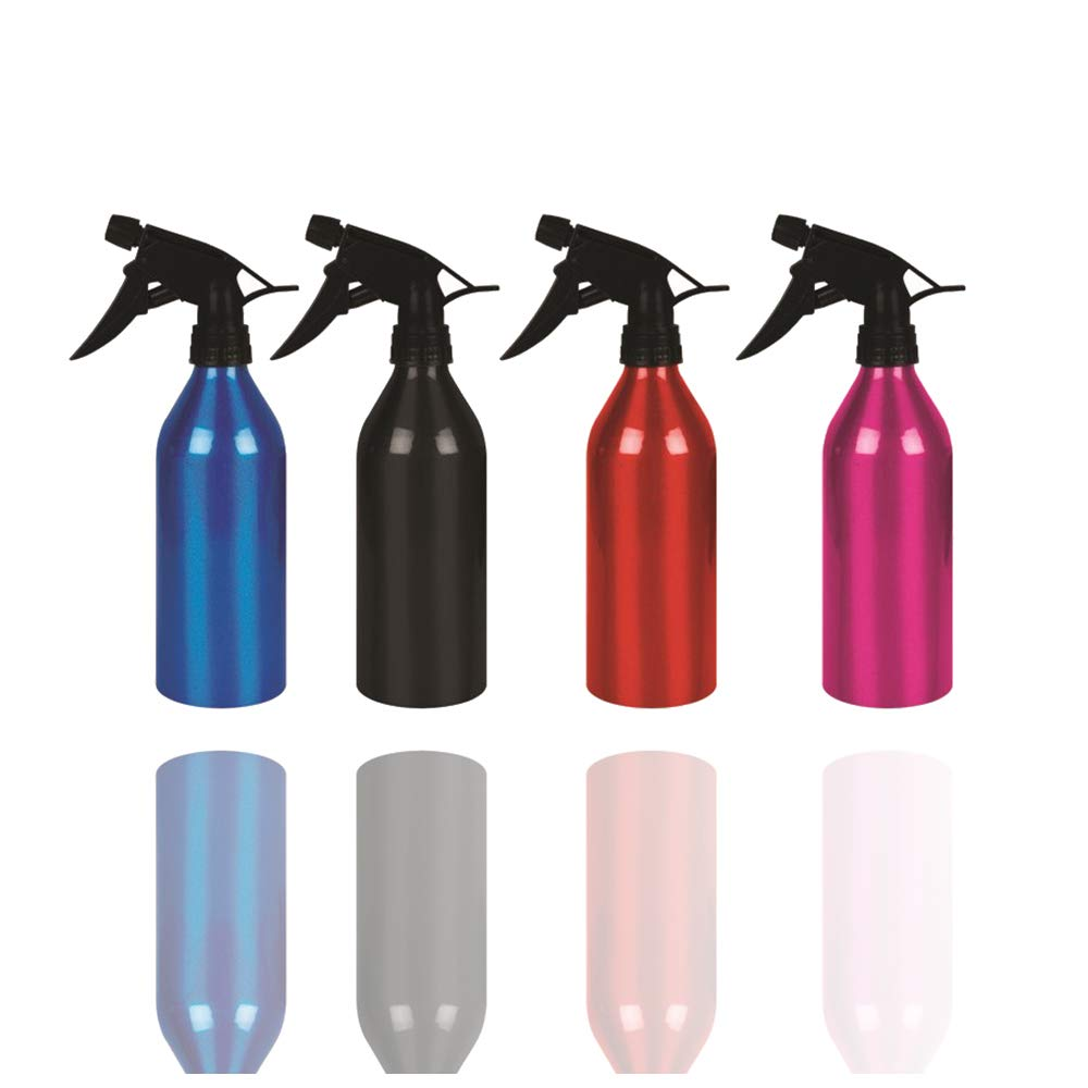 Xen Labs Empty Spray Bottle Clear Aluminium Bottle Safe Mist Trigger Sprayer Leak-proof Great for Cleaning Products Garden using Beauty Treatments (1x Bottle Assorted Colours)