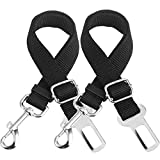 Peyou Pet Car Seat Belt, [2-Pack] Adjustable Safety Durable and Sturdy Pet Seat Belts Leash Harness for Car Vehicle, 16-26 inch Adjustable, Keep Your Dogs Cats Safe When Driving or Sudden Braking For Sale