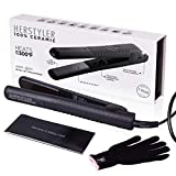 Herstyler Superstyler Onyx Ceramic Flat Iron | Ceramic Hair Straightener With Adjustable Temperature | Travel-friendly Dual Voltage Flat Iron | Because First Impressions Count