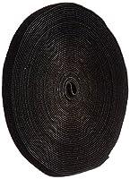 "VELCRO 1801-OW-PB/B Black Nylon Onewrap Velcro Strap, Hook and Loop, 1/2"" Wide, 50' Length"