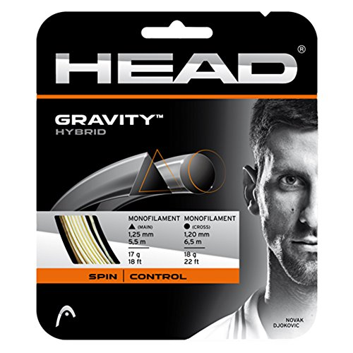 HEAD Gravity Tennis String Set, White/Grey – DiZiSports Store