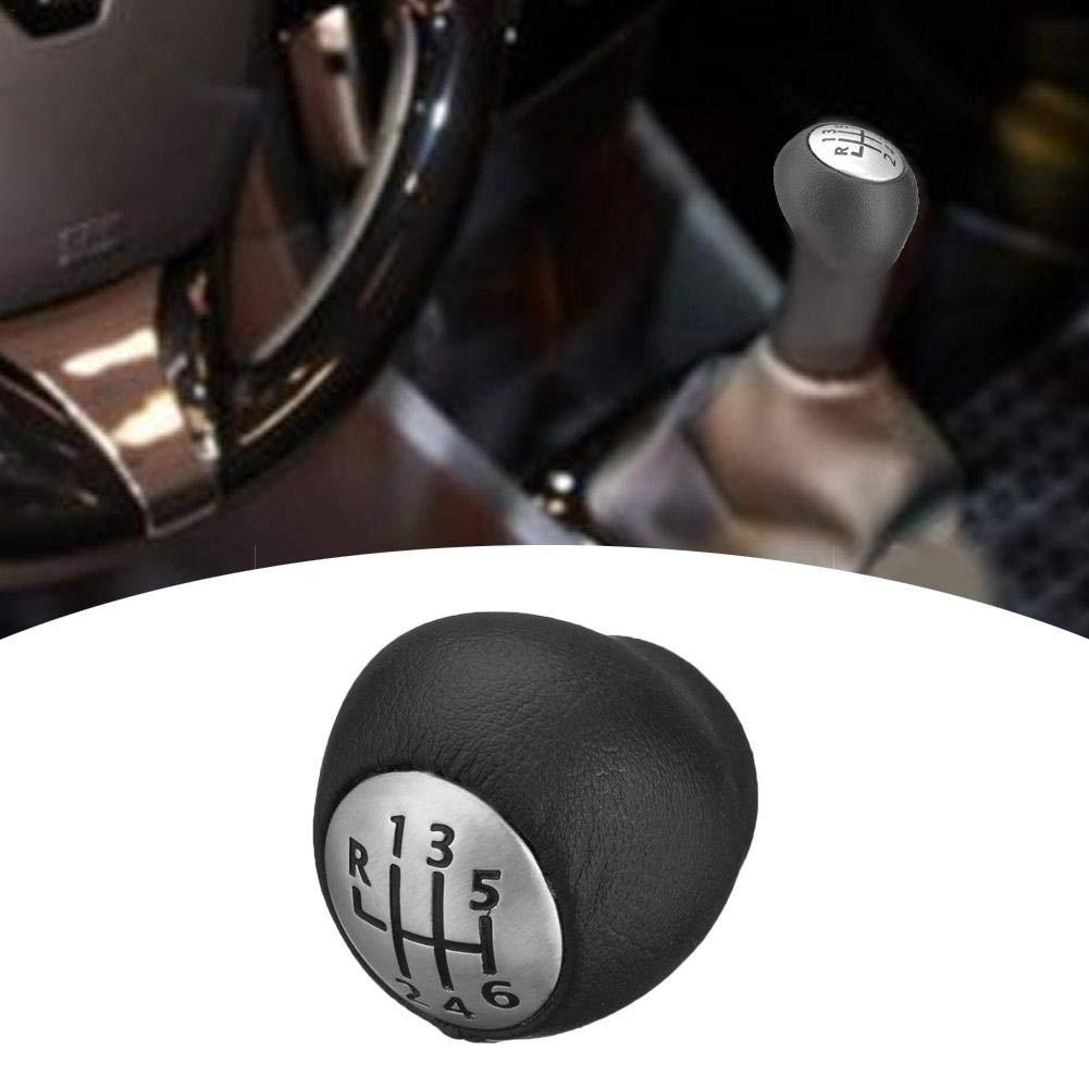Blentude Vitesse Voiture Shifter 6 Vitesses pour Renault Megane Mk3 Clio Mk3 Laguna Mk2 Sceni Cuir en Alliage de Zinc