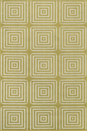 Loloi Rugs OASIOS-01XCIV3B5A Oasis Collection Indoor/Outdoor Area Rug, 3-Feet 11-Inch by 5-Feet 10-Inch, Citron/Ivory