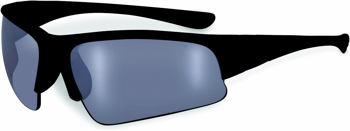 SSP Eyewear Safety Glasses with Blue Frames and Silver Mirrored Shatterproof Lenses Colville BLU M
