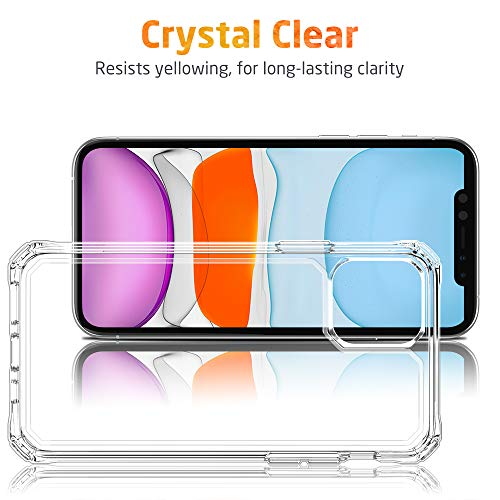 ESR Air Armor Designed for iPhone 11 Case [Shock-Absorbing] [Scratch-Resistant] [Military Grade Protection] Hard PC + Flexible TPU Frame, for The iPhone 11, Clear
