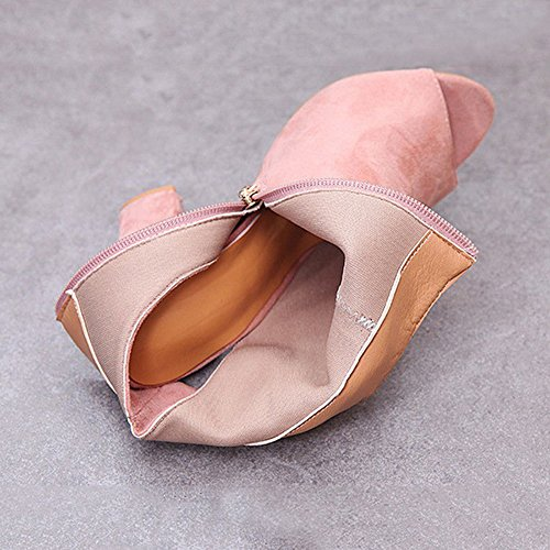Casual Women Pumps Sandals Chunky cm Shoes Boots Ankle High Pink Toe Shoes 10 Summer Sandals Zipper Out Peep Cut Boots Kootk Heels Party Slingback Block dTfwUqU
