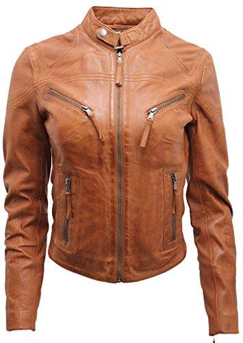 Ladies Leather Biker Jacket Sale - 9