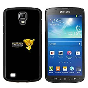 Caucho caso de Shell duro de la cubierta de accesorios de protección BY RAYDREAMMM - Samsung Galaxy S4 Active i9295 - PRINCIPIO DE LA VIDA