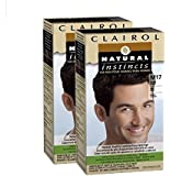 Clairol Natural Instincts for Men Hair Color, Brown Black (M17), 2 pk
