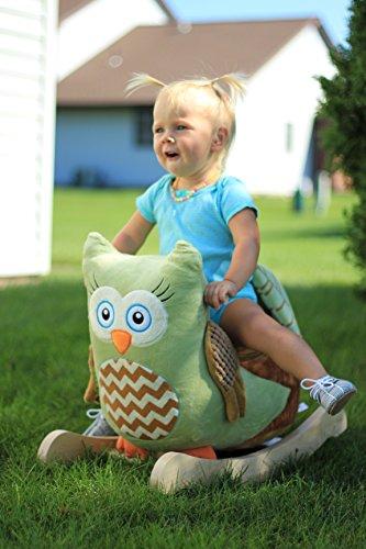 Rockabye Owliver Green Owl Rocker, One Size by Rockabye (Image #3)