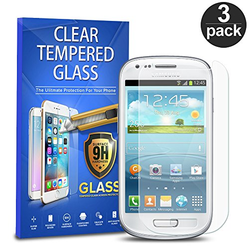 Samsung Galaxy S3 Mini Tempered Glass, 3-Pack Premium Tempered Glass Screen Protector For Samsung Galaxy S3 Mini