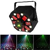ZjRight Christmas Professional Stage Light DMX 512 3 in 1 RGBW LED Laser Party Disco KTV Light