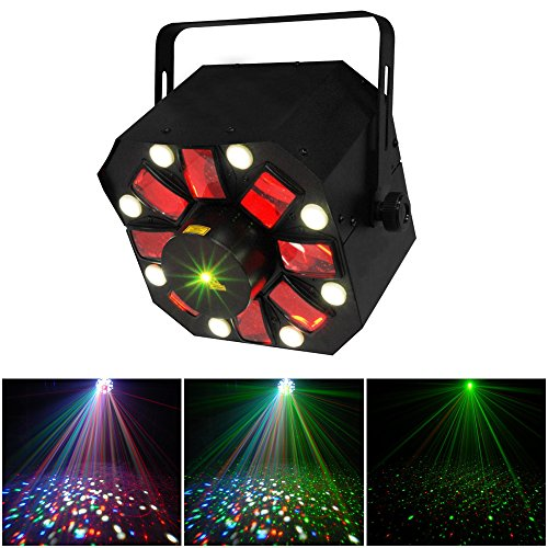 ZjRight Christmas Professional Stage Light DMX 512 3 in 1 RGBW LED Laser Party Disco KTV Light by ZjRight