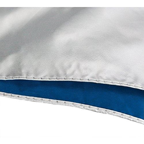 Sun Tek 68'' UV Protection Wind Cheater Vented Canopy Silver/Blue Umbrella by Suntek (Image #3)