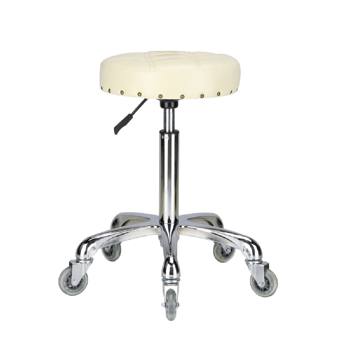 Karrie Swivel Stool Chair Adjustable height,Heavy Duty Hydraulic Rolling Metal Stool for Kitchen,Salon,Bar,Office,Massage (Off-white) by KARRIE (Image #1)