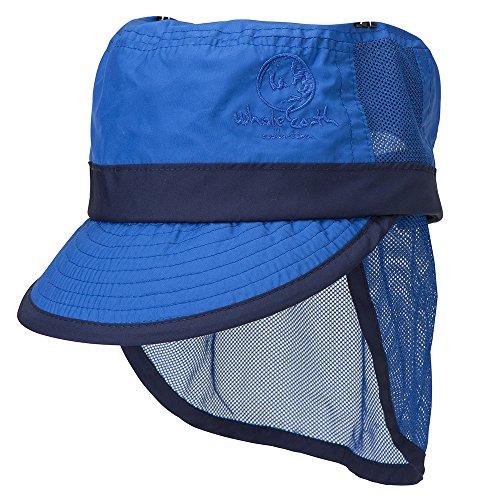 支配的完璧モーテルホールアース(ホールアース) KIDS SUNSHADE CAP WE27FA62 ブルー