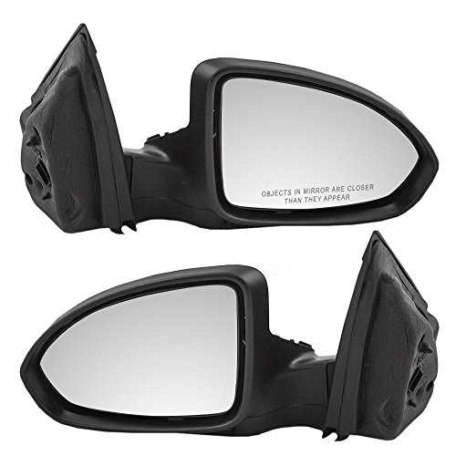 Driver and Passenger Power Side View Mirrors Heated Ready-to-Paint Replacement for Chevrolet 19258659 19258660