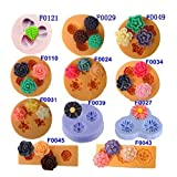 Chocolate Jelly 3D Mini Silicone Fondant DIY Flower Cake Mold .