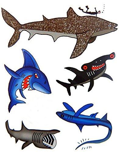Premium Shark Tattoos, Party Favors, Temporary Tattoo ()
