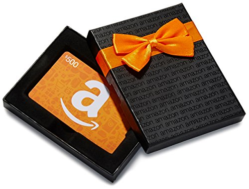 Amazon.ca $500 Gift Card in a Black Gift Box (Amazon Icons Card Design)