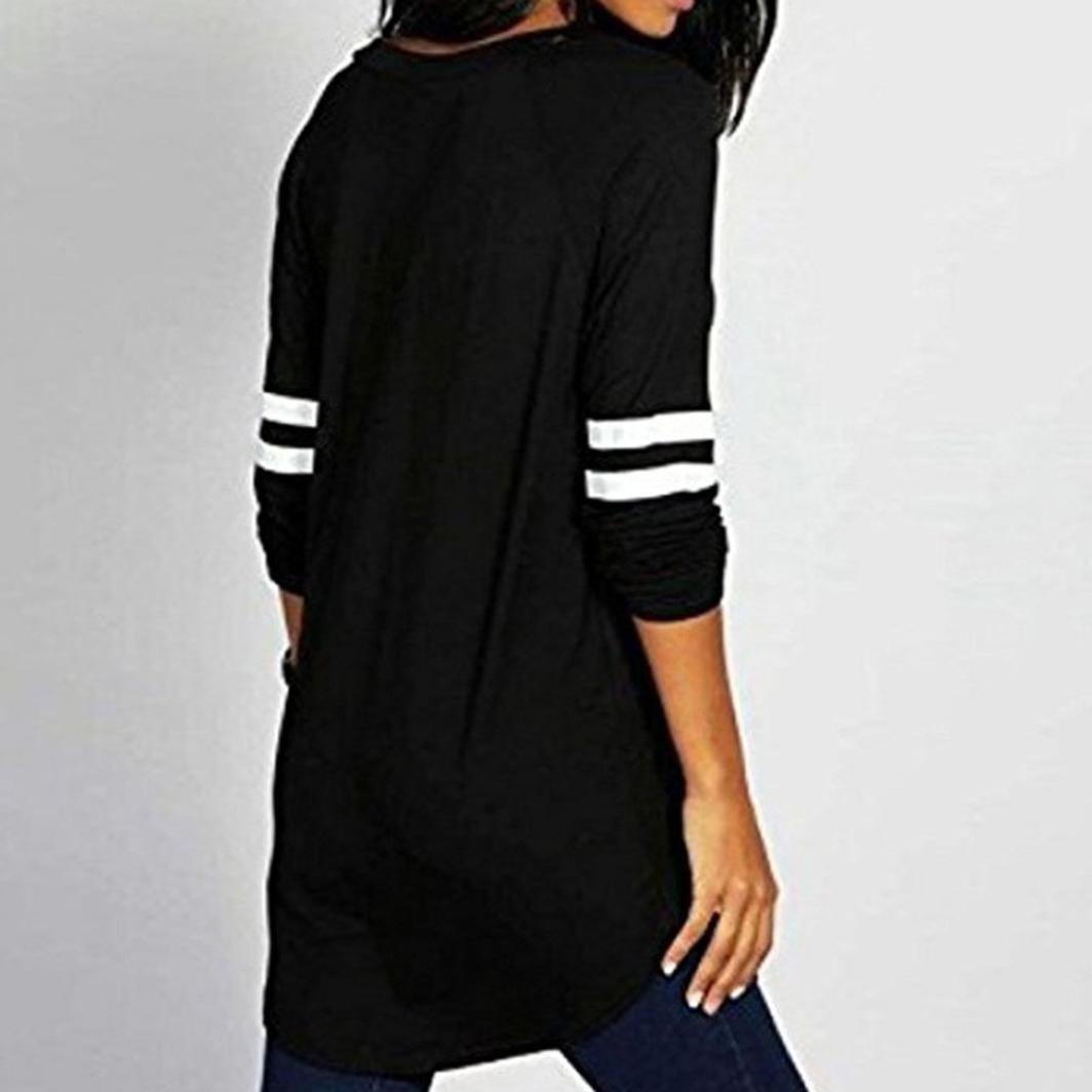 Camisas Mujer Elegantes, BBestseller Blusas para Mujer Vaquera Sexy Poliéster Mangas largas Sueltas Camisetas Mujer Manga Larga Cuello Redondo Blusas: ...