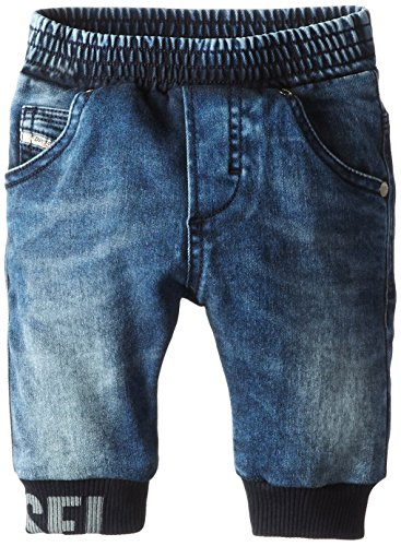 Diesel Kids Boys Clothing (Diesel Baby Boys' Plonchy Super Stretch Elastic Waist Ribbed Cuff, Indigo, 6 Months)
