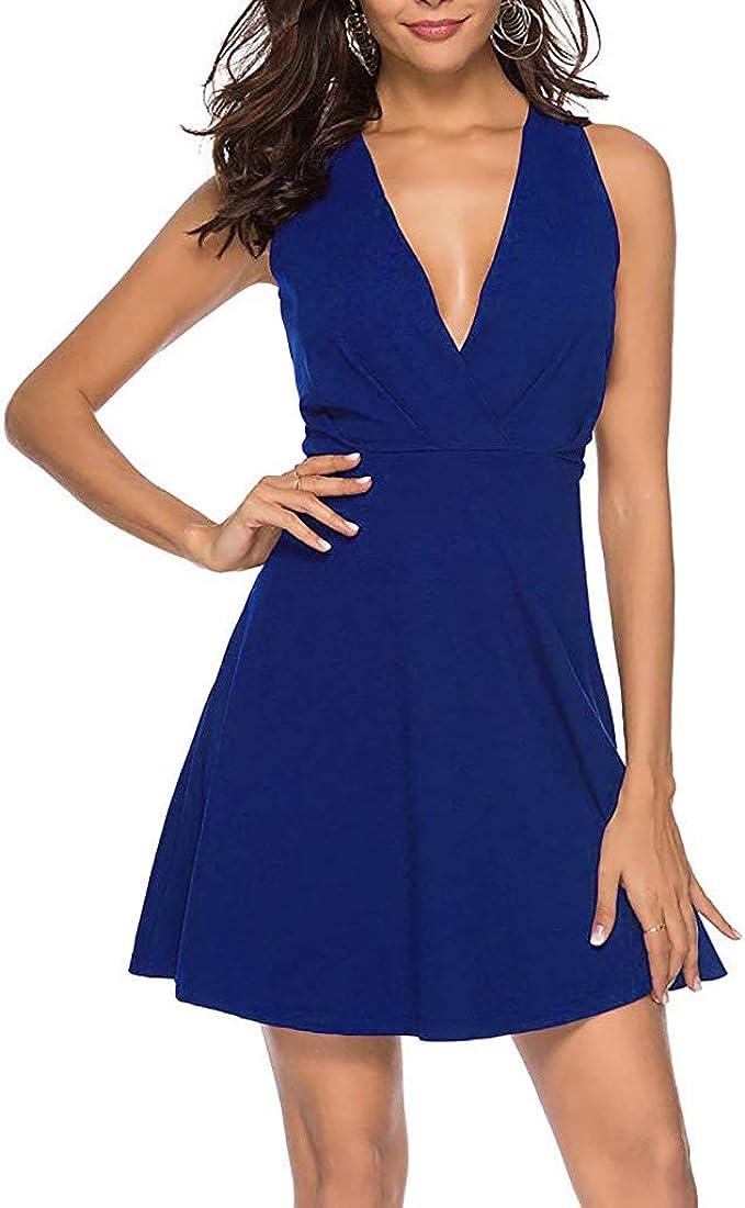 iYYVV New Summer Womens Fashion Sleeveless Polka Dot V-Neck Dress ...