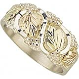 Cheap Black Hills Gold Sterling Silver Band – Men's