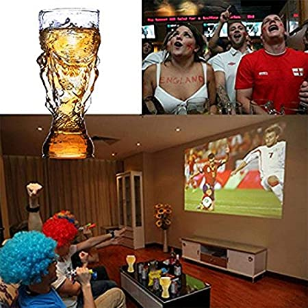 HJB 350 ML Barra Creativa Copa de Vino Tinto Copa del Mundo de fútbol Campeón Trofeo Forma Copa de Cerveza Copa de borosilicato Alto para Whisky Cóctel