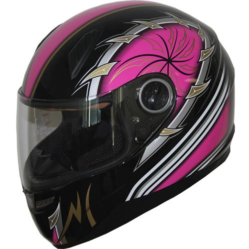 Full Face Motorcycle sports Bike Helmet New 516_119 Pink (L)