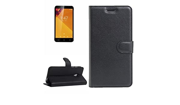 Amazon.com: HITSAN INCORPORATION for Vodafone Smart Turbo 7 Litchi Texture Horizontal Flip Leather Case with Magnetic Buckle & Holder & Card Slots ...