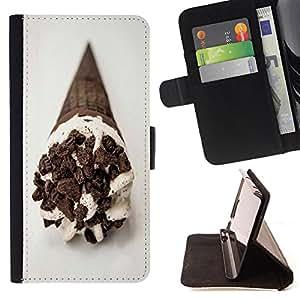 - Ice Cream Summer/ Personalizada del estilo del dise???¡Ào de la PU Caso de encargo del cuero del tir????n del soporte d - Cao - For LG G2 D800